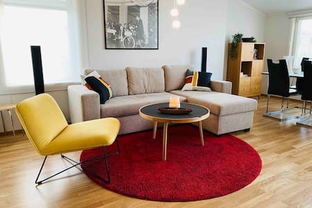 Ljus och modern lägenhet i centrum av Mariehamn