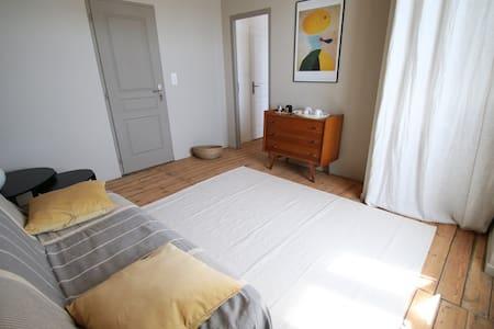 Chambre particulière avec salon près de l'océan - Le Grand-Village-Plage