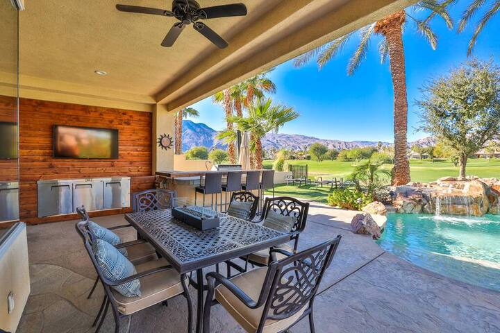 PGA West, private pool and spa outdoor covered TV