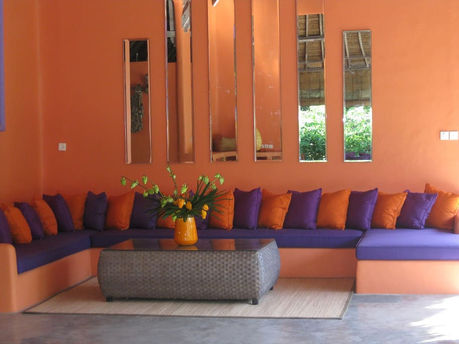 Our colourful and comfortable lounge.