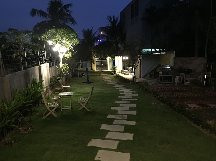 The garden and path way