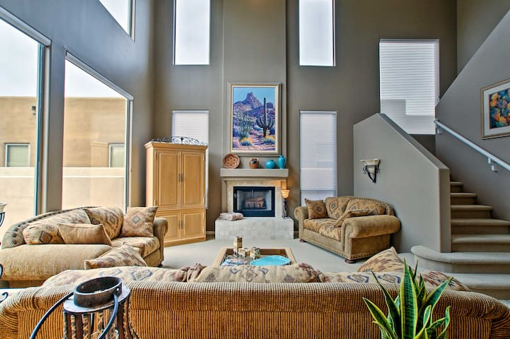 This spacious abode boasts all the comforts of home.