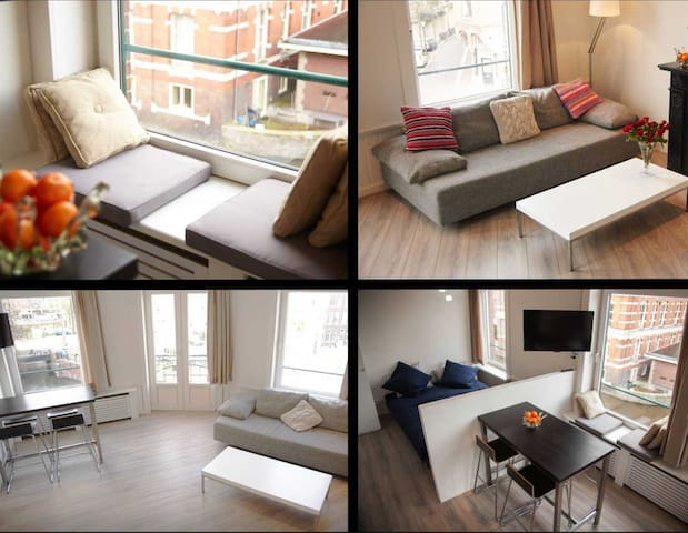 Corner canal view apartment Jordaan
