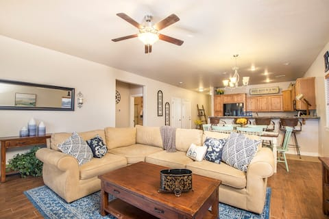 Kitchen opens up to combined living and dining area giving ample room for everyone.
