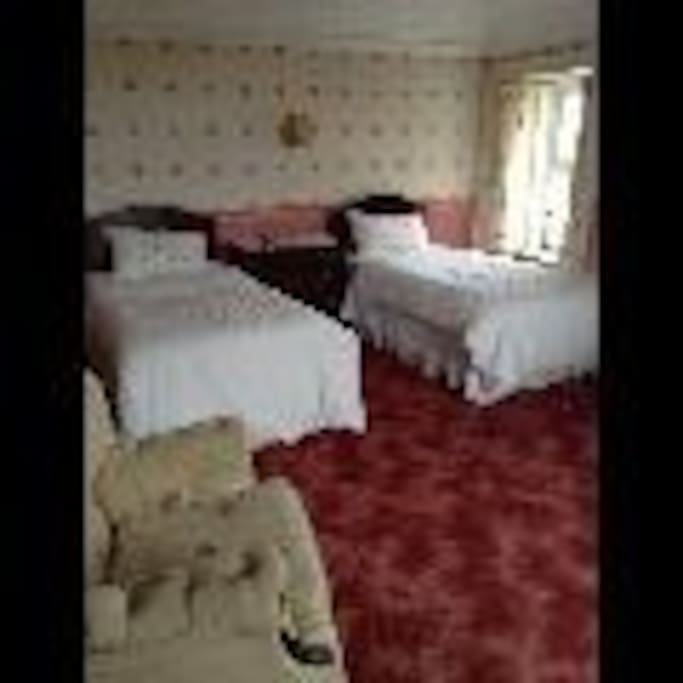 Two twin bedded rooms full en suite from £80.00 per room per night.