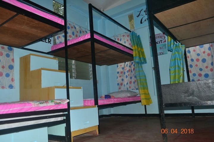 1 bunk bed on mixed dormitory