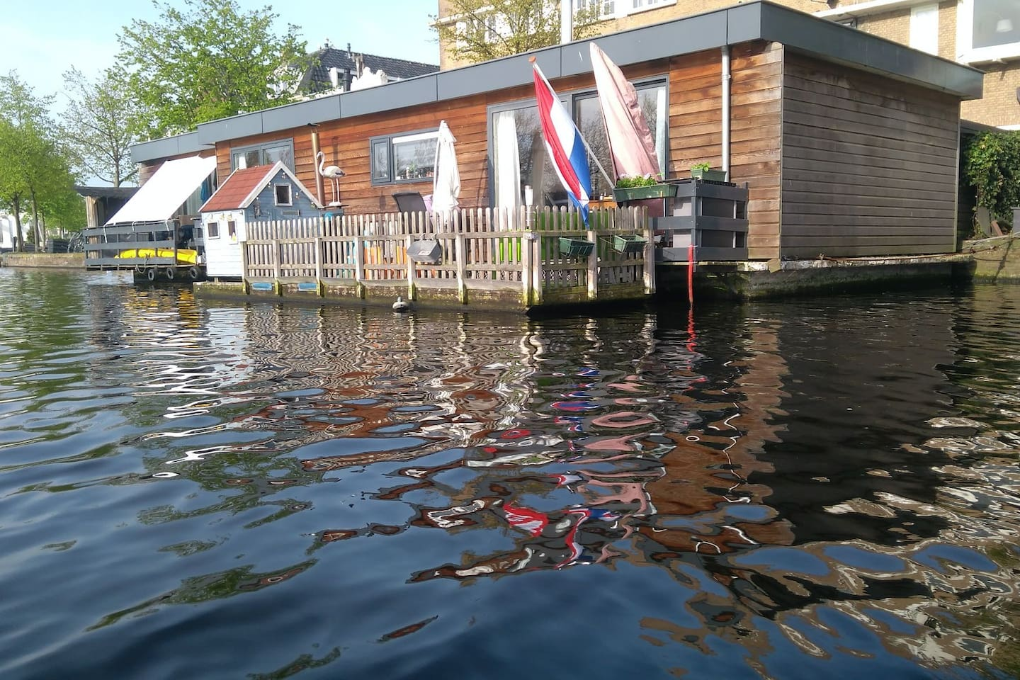 "houseboat ""Rêverie"" 2 minutes walk to city center Haarlem"