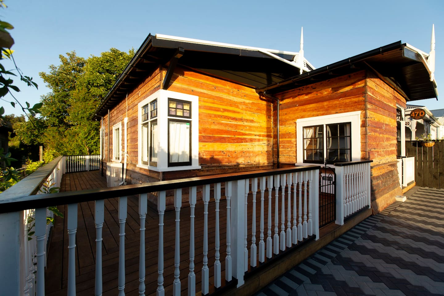 Welcome to The Night Train. A huge gated deck surrounds the property taking in the morning and afternoon sun.