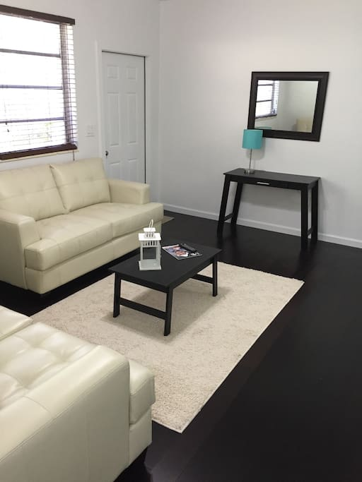 Living Room with pull out Sofa Bed