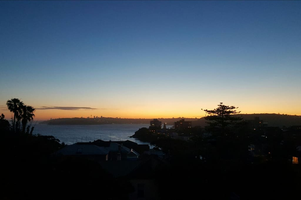 Dusk over Manly from Balcony