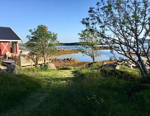 Cabaña junto al mar con vistas increíbles