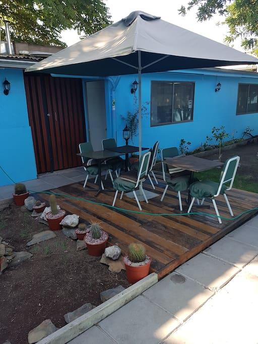 Terraza y Jardin interior zona wifi