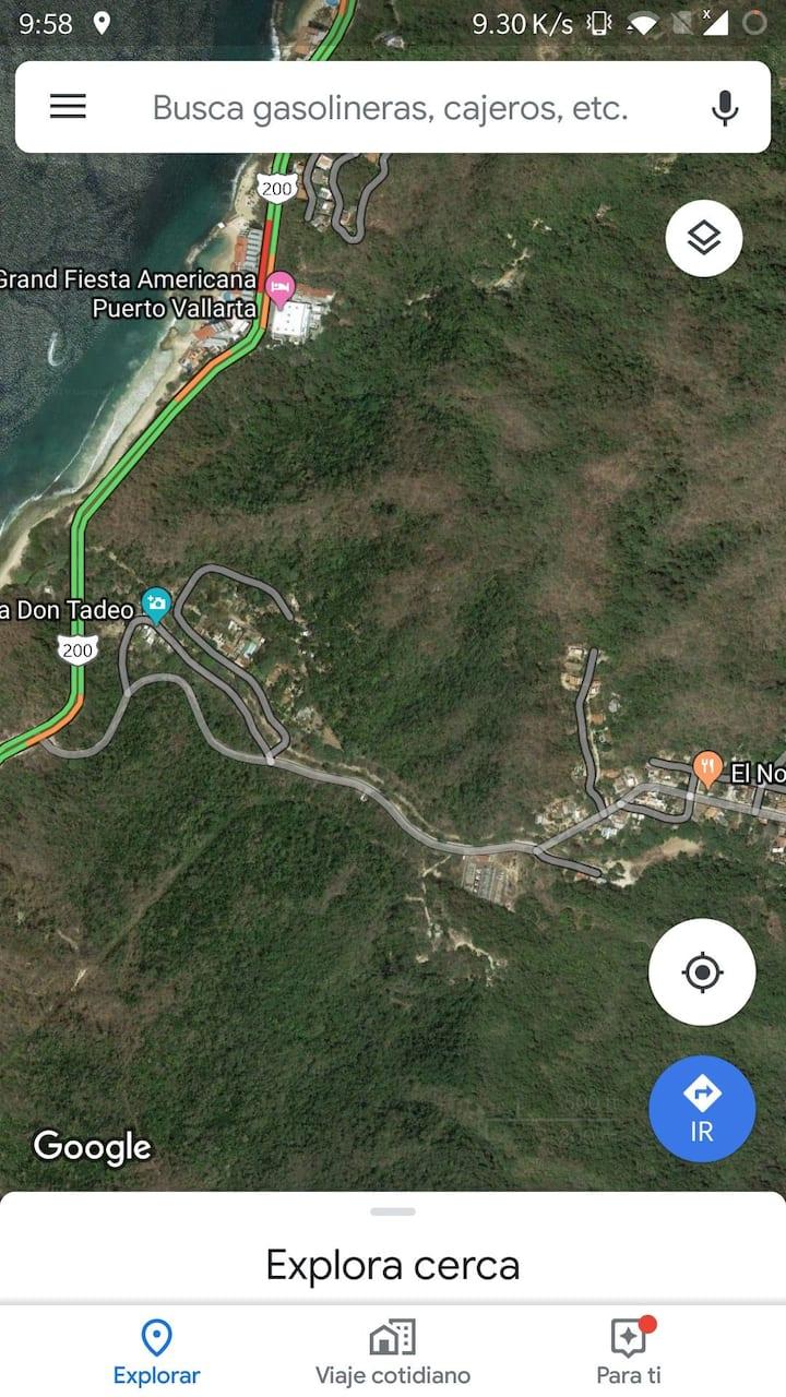 Camping Nogalito en montañas de Puerto Vallarta