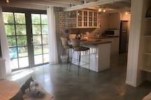 polished concrete floors and complete privacy