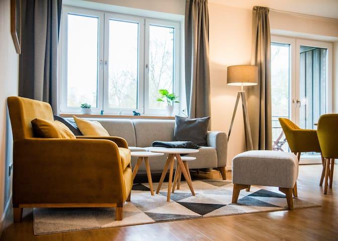 """""""Breiter Luzin"""" Erdgeschoss Wohnung mit Balkon"""