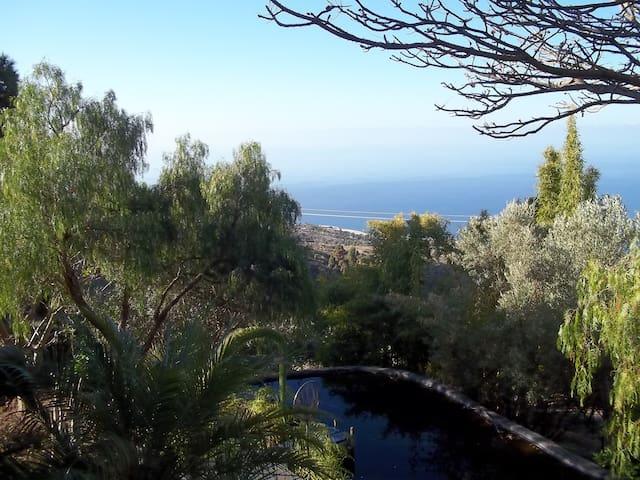 Gemütliches Haus mit Meerblick, tropischer Garten - Tijarafe - Villa