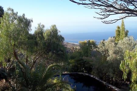 Gemütliches Haus mit Meerblick, tropischer Garten - Tijarafe - 別荘