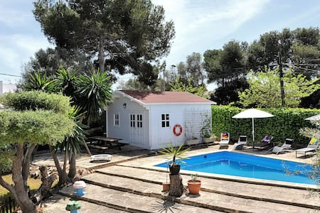 Cala Blava , Poolhouse , 32qm - Llucmajor - Blockhütte