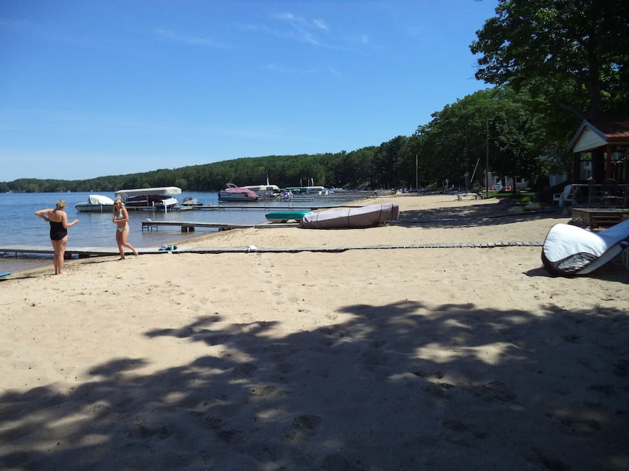 walkable beach to the north
