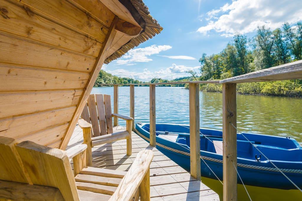 cabane lagon pour 2 personnes huttes louer chassey l s montbozon bourgogne franche comt. Black Bedroom Furniture Sets. Home Design Ideas