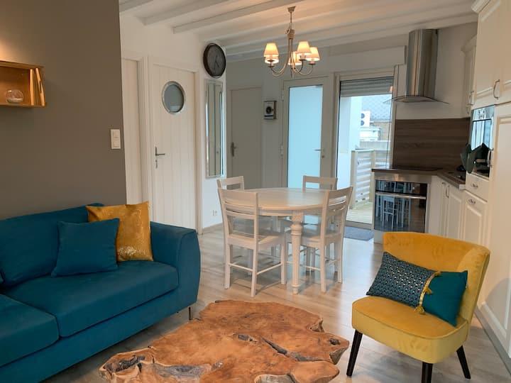 Les Violettes, appartement à 30 m de la plage