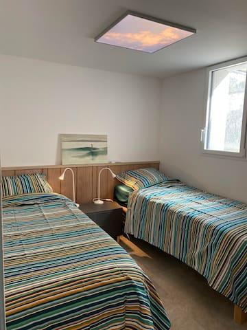 chambre2, 2/ 80 x 200 ou 1/ 160 x 200