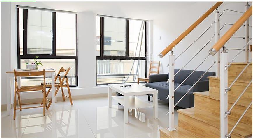 苏州居之恋复式公寓2居室(繁花中心店) - Suzhou - Apartamento