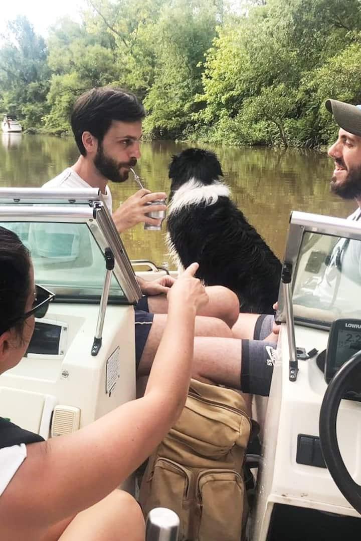 De tour por los rios, mate y buena vibra