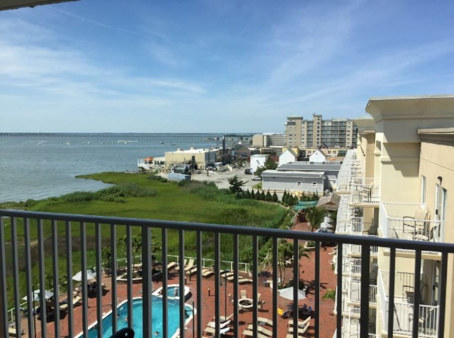 View of the Bay from the balcony