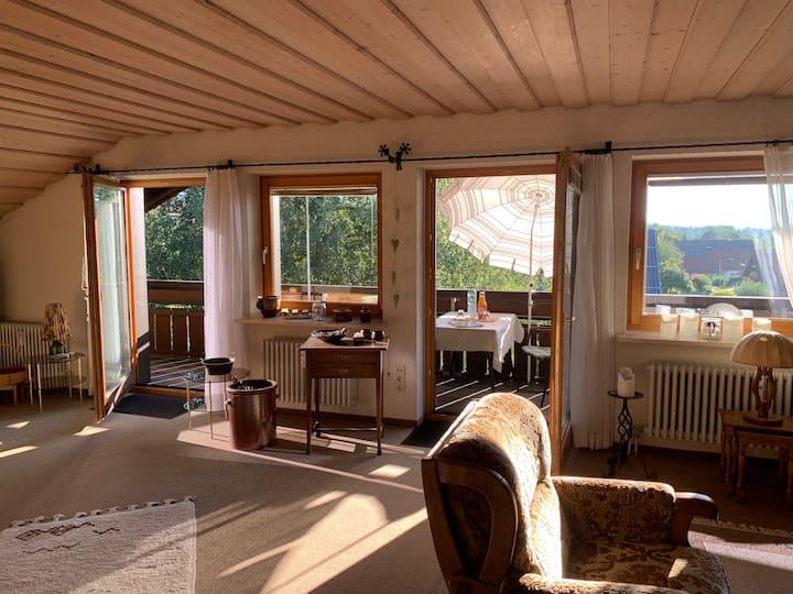 Kultige Retro-Wohnung im Allgäu mit Bergblick