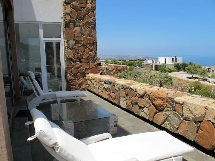 Gran terraza y hermosa vista
