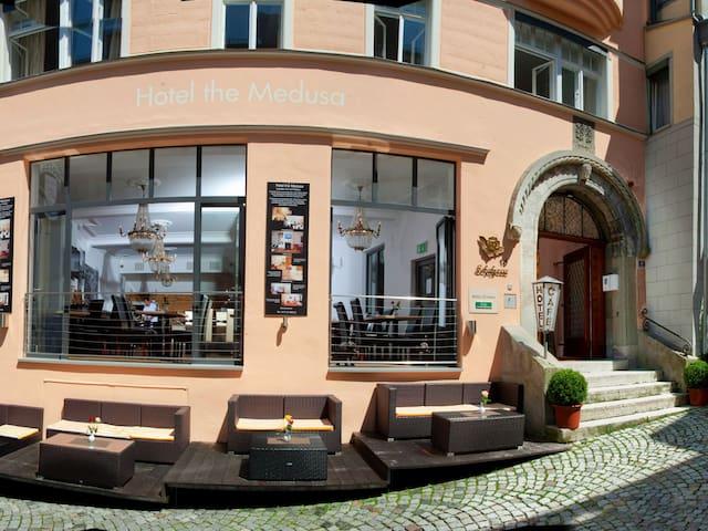 Hotel Medusa, (Lindau am Bodensee), Einzelzimmer mit Dusche und WC