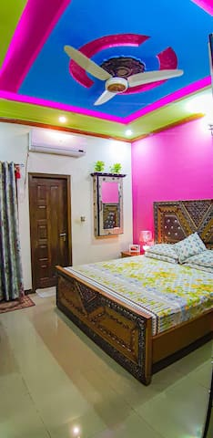 This house is situated in peaceful place furnished