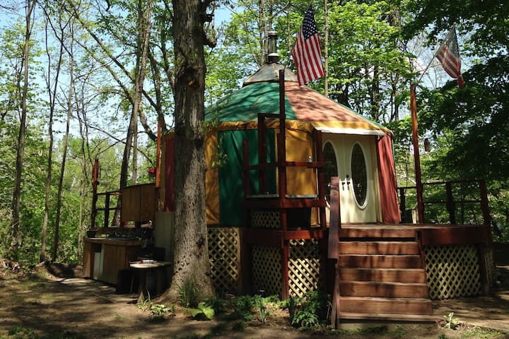 Glamping in a Yurt on the Tippecanoe River