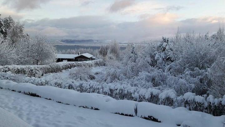 Cabaña grande, vista al lago Huala Hue Bariloche
