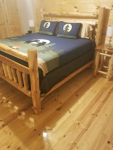 Custom KING Log Bed