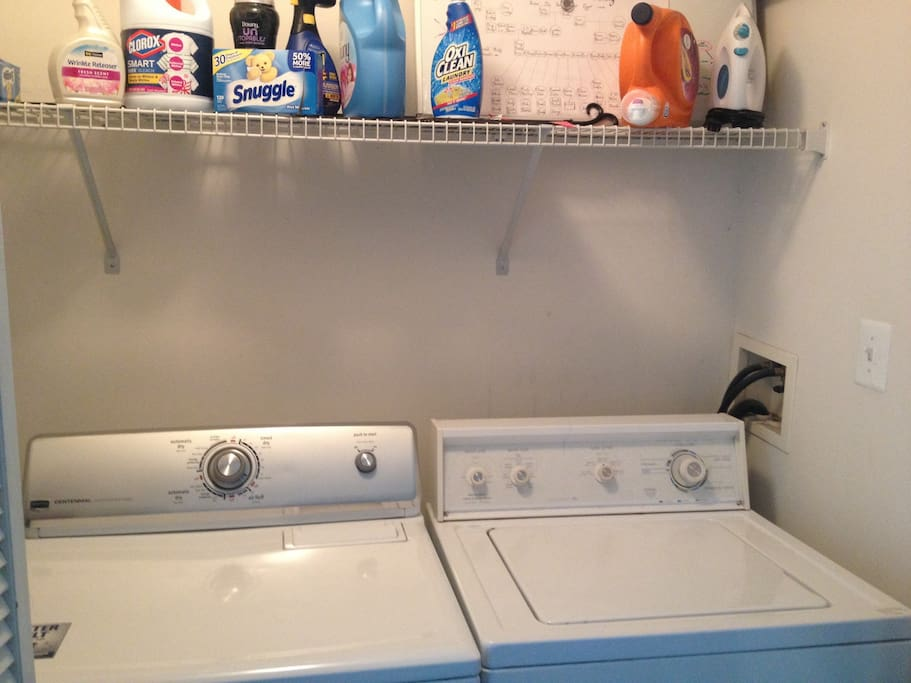 Private washer and dryer that you're able to use.