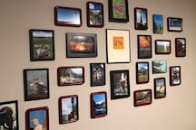 Bedroom #2 features photos that remind you how fun it is travel and see new places...like Fayetteville!
