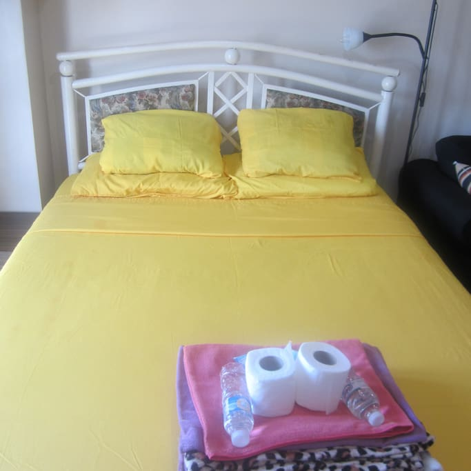 Bed (Queen Size) - good for 2 adults and the freebies