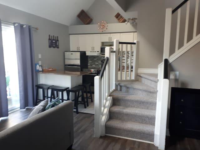 Professionally Cleaned Two-Level Studio Loft Condo