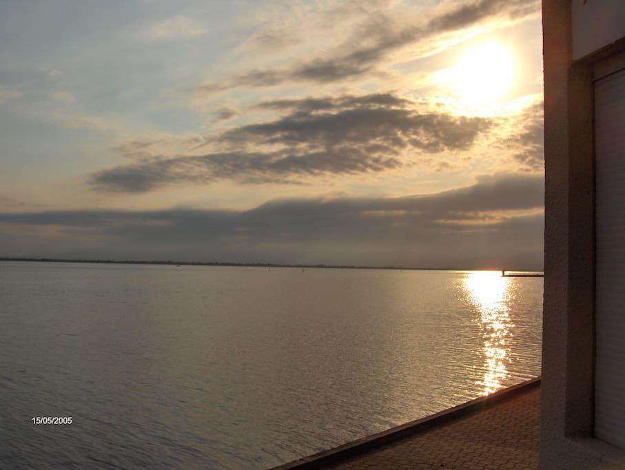 Coucher de soleil vu de la Loggia