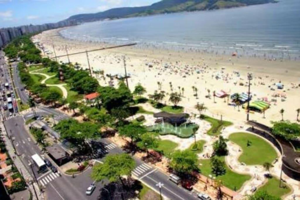 praia de Santos. foto aérea