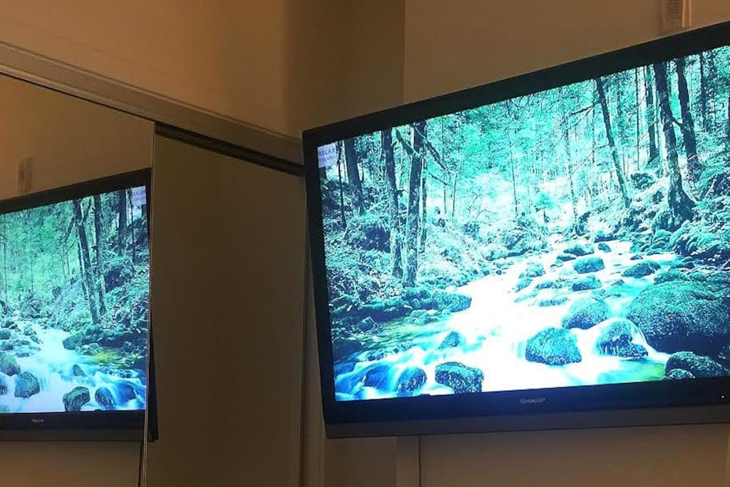 Big TV In your Room with access to Apple TV and Netflix