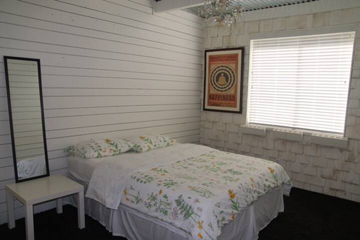 Cool White Guest Room