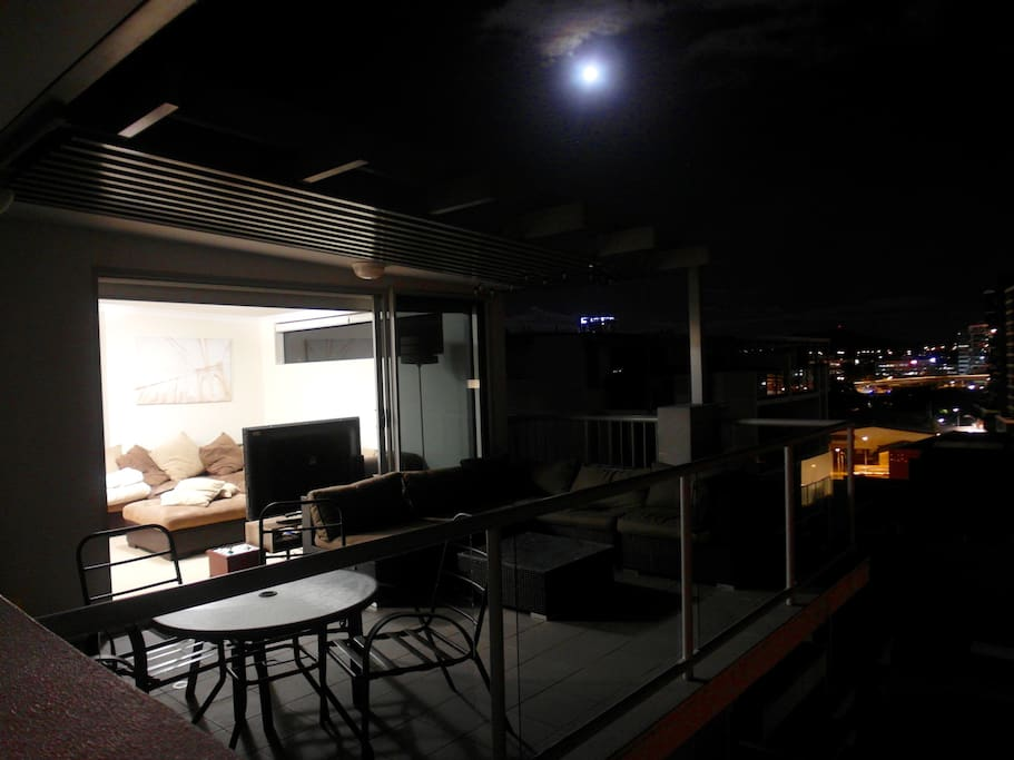 The Outdoor area on the rooftop