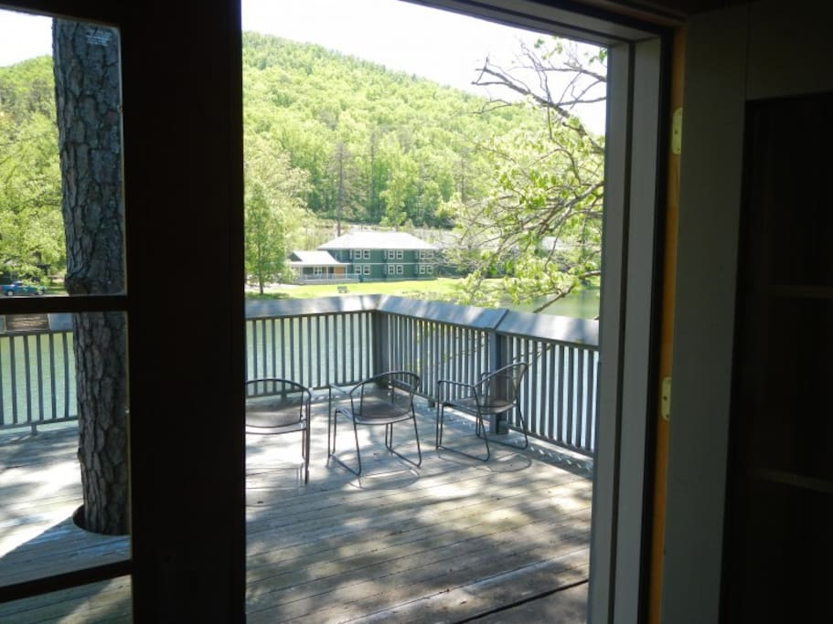 Upper and Lower Deck overlooking lake