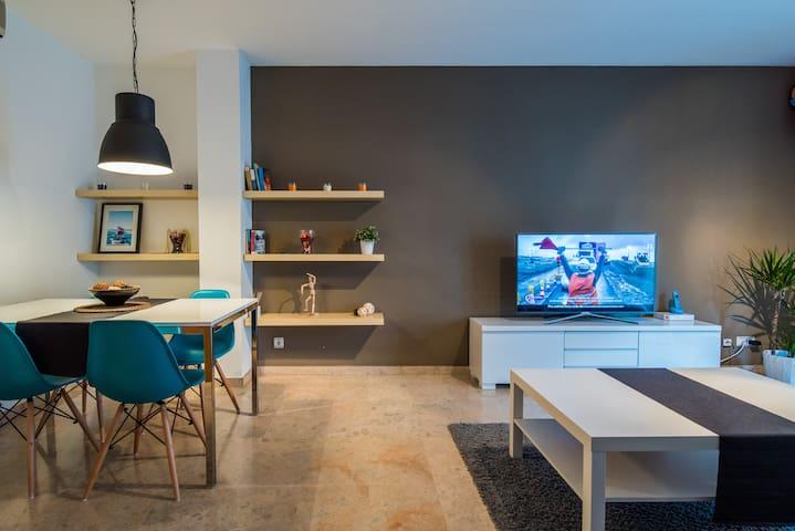 Amplia habitación doble a 35´ del Barcelona - Mollet del Vallès - Appartement