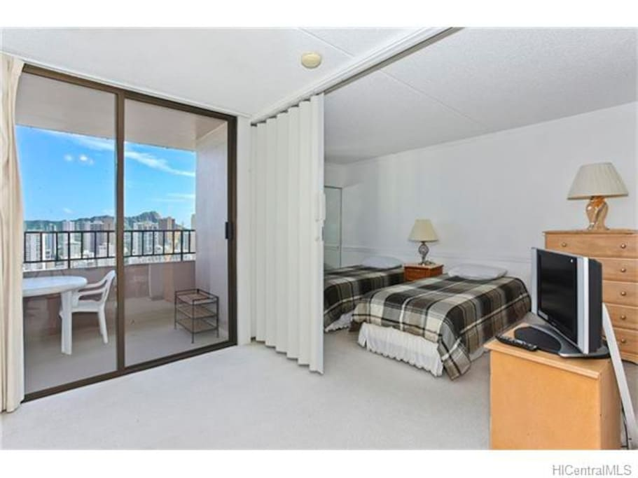 sliding door privacy from living room to bedroom