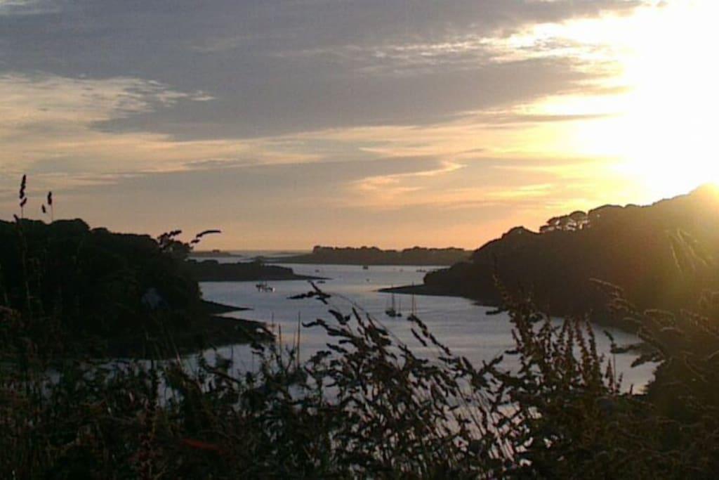 Coucher de soleil sur l'Aber Wrac'h