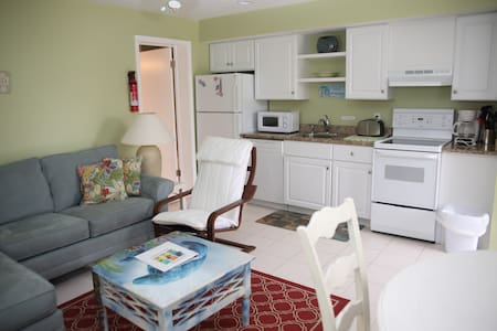 Renovated apts just a 2 minute walk to the beach!